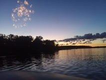 4-ый из захода солнца в июле стоковое фото rf