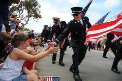 4-ый из парада Huntington Beach CA США в июле Стоковое фото RF