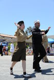 4-ый из парада Huntington Beach CA США в июле стоковые изображения rf