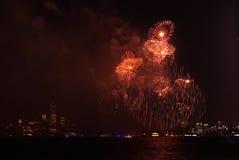 4-ый из фейерверков в июле в Нью-Йорке Стоковая Фотография