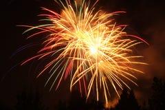 4-ый из фейерверков в июле в пункте орла, Орегоне стоковое изображение rf
