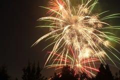 4-ый из фейерверков в июле в пункте орла, Орегоне стоковые изображения