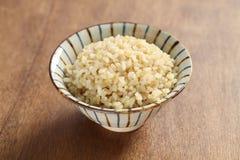 Ый коричневый рис Стоковое Фото