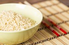 Ый коричневый рис Стоковые Изображения