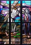 4-ый крестный путь, Иисус встречает его мать Стоковые Изображения RF