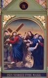 4-ый крестный путь, Иисус встречает его мать Стоковая Фотография RF