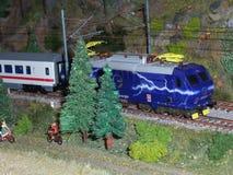 ый модельный поезд вверх Стоковые Фотографии RF