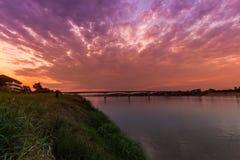 1-ый мост приятельства Таиланда - Лаоса Стоковые Изображения RF