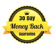 ый-дневн значок Ecommerce задней части денег 30 Стоковые Изображения RF