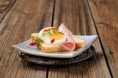 ый открытый сандвич стоковая фотография