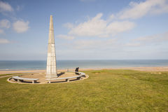 1-ый памятник пехотной дивизии около пляжа Омахи, Нормандия - Стоковые Изображения RF