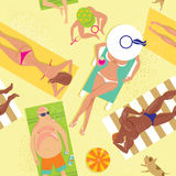 ый пляж Стоковое Фото