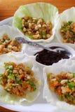 Ый салат обернутый свининой Стоковое Изображение RF