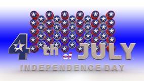 4-ый счастливый июль бесплатная иллюстрация