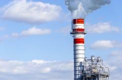 дым печной трубы промышленный стоковые фотографии rf