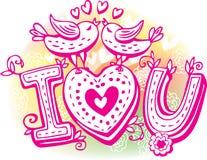 Ыketchy z ptakami i sercem ilustracji