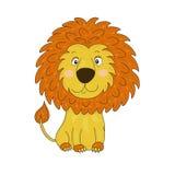 львев шаржа милый также вектор иллюстрации притяжки corel Стоковое Изображение RF