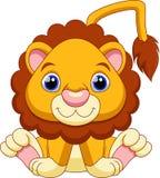 львев шаржа милый Стоковое Изображение RF