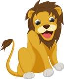 львев шаржа милый Стоковое Изображение