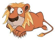 львев шарж Стоковое Фото