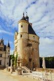23-ье июля 2017 замок Chenonceau Франция Фасад средневекового замка дам Королевский средневековый замок стоковая фотография