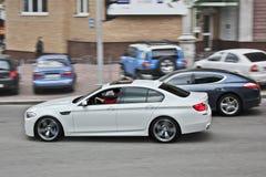 3-ье ноября 2013 Киев, Украина; BMW M5 F10 в движении стоковая фотография rf