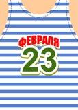 23-ье февраля, защитник отечества Приветствия открытки Стоковые Фотографии RF