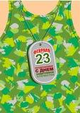 23-ье февраля, защитник отечества Приветствия открытки Стоковое Изображение RF