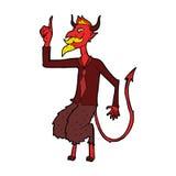 дьявол шаржа в рубашке и связи Стоковые Фотографии RF