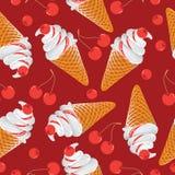 льдед вишен cream иллюстрация штока