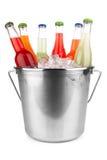 льдед питья бутылок пива предпосылки холодный Стоковые Фото