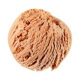 льдед сливк конца шоколада предпосылки изолировал вверх по белизне Стоковые Фото