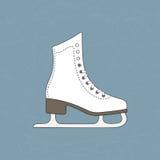 льдед удерживания руки крупного плана предпосылки женский outdoors катается на коньках снежок Стоковая Фотография