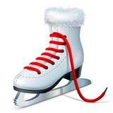 льдед удерживания руки крупного плана предпосылки женский outdoors катается на коньках снежок иллюстрация штока