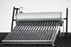 эвакуированная вода пробок стеклянного подогревателя солнечная Стоковая Фотография RF