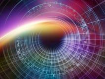 Эволюционируя мир цифров иллюстрация вектора