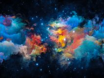 Эволюционируя межзвёздное облако иллюстрация вектора