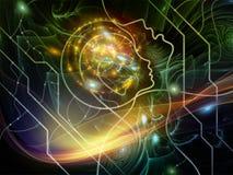 Эволюционируя сеть мысли Стоковое Изображение