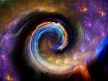 Эволюционируя спиральная картина Стоковое Изображение