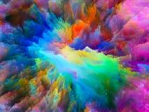 Эволюционируя сюрреалистическая краска Стоковые Фото