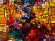 Эволюционируя цветное стекло Стоковые Изображения