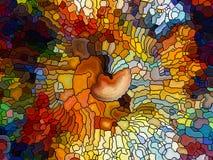 Эволюционируя цветное стекло Стоковое Фото