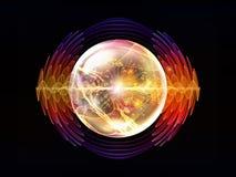 Эволюционируя частица волны бесплатная иллюстрация