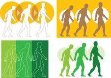 Эволюционируя человек иллюстрация вектора