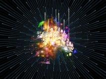 Эволюционируя численный взрыв Стоковое Изображение