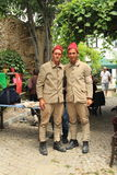 Эгейская область - остров Tenedos, актеры и костюмы кино письма последнего любовной истории Стоковая Фотография