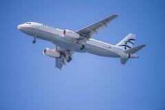 Эгейские авиакомпании, Греция, аэробус a320 стоковые изображения