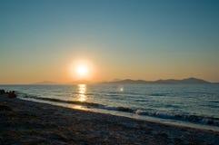 эгейский заход солнца Стоковые Изображения