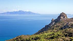 эгейское море ландшафта Стоковая Фотография RF