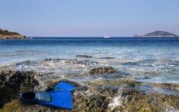 эгейское море Греции стоковое изображение rf